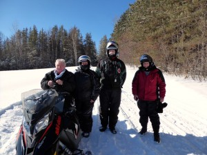 Greg, Kathy, Bill, and Pete On the trail in Quebec