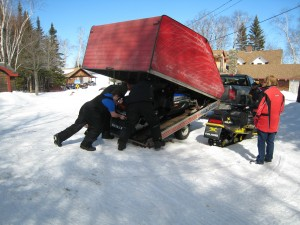 Loading a dead sled
